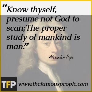 alexander pope essay on man know then thyself