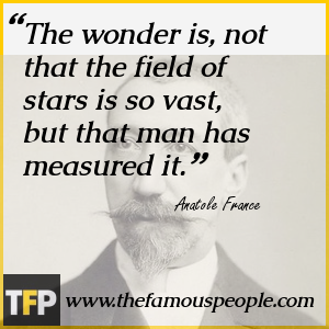 The wonder is, not that the field of stars is so vast, but that man has measured it.