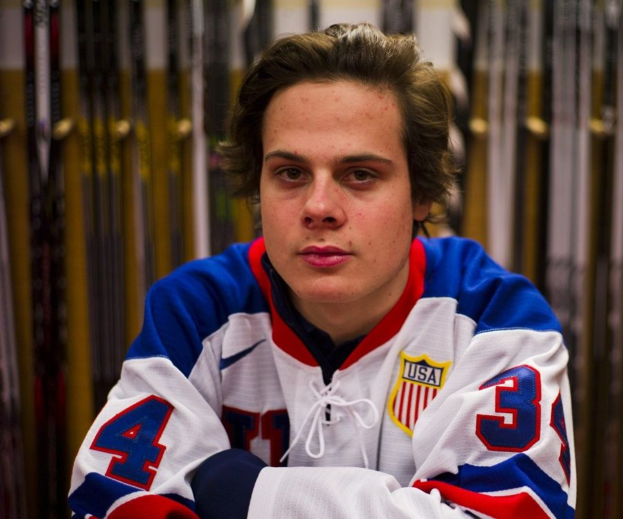 brand new a9aff 76e15 Auston Matthews Biography - Facts, Childhood, Family Life of ...