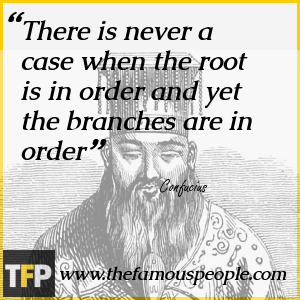 There is never a case when the root is in order and yet the branches are in order