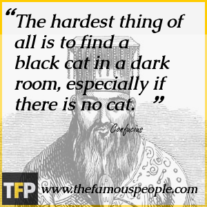 The hardest thing of all is to find a black cat in a dark room, especially if there is no cat.