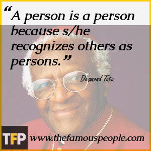 A person is a person because s/he recognizes others as persons.