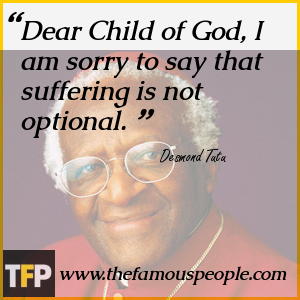 Dear Child of God, I am sorry to say that suffering is not optional.