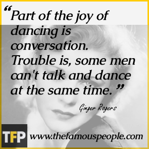 Part of the joy of dancing is conversation. Trouble is, some men can