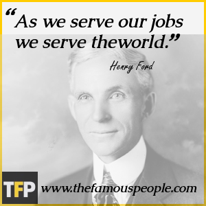 As we serve our jobs we serve theworld.