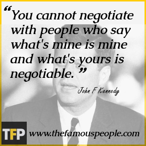 You cannot negotiate with people who say what