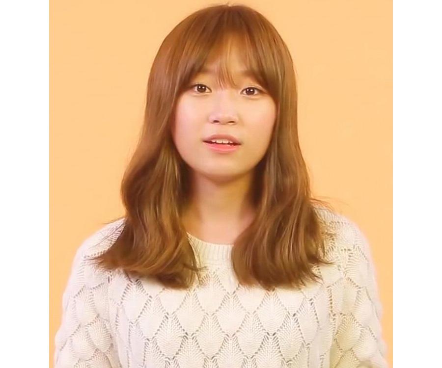 orange hair korean