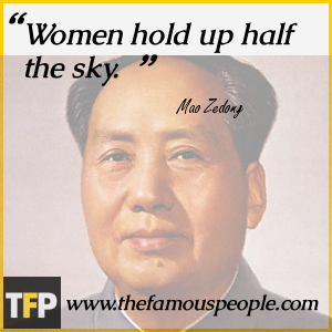 Women hold up half the sky.