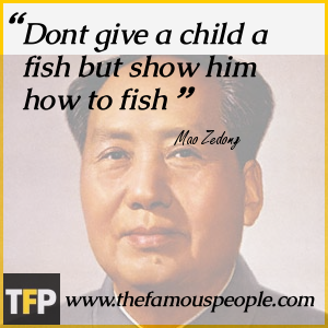 Dont give a child a fish but show him how to fish