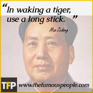 In waking a tiger, use a long stick.