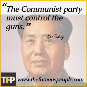 The Communist party must control the guns.