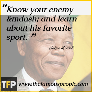 Know your enemy — and learn about his favorite sport.