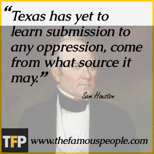 the life and career of sam houston He continued to lead troops against mexican and indian opponents for the rest of his life of santa anna's career sam houston realized that his term.