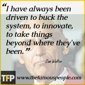 I have always been driven to buck the system, to innovate, to take things beyond where they