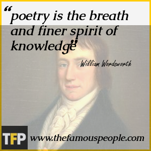 poetry is the breath and finer spirit of knowledge
