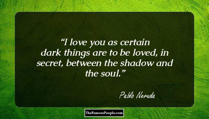 Pablo Neruda green pen
