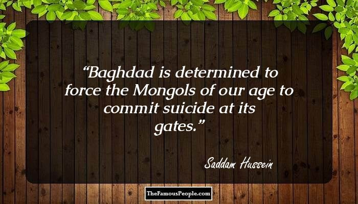 he who confronts saddam hussein biography Get information, facts, and pictures about saddam hussein at encyclopediacom make research projects and school reports about saddam hussein easy with credible articles from our free.