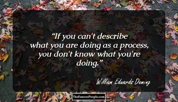 the life and achievements of william edwards deming Visit amazoncom's w edwards deming page and shop for all w edwards  deming books check out pictures, bibliography, and biography of w edwards.