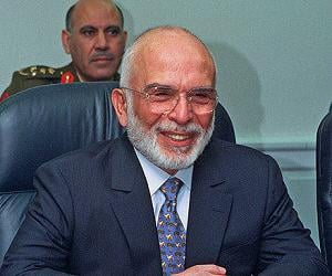 King Hussein of...<